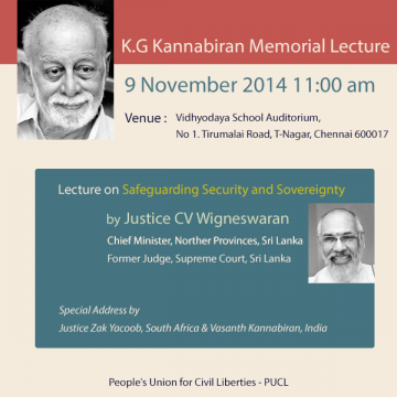 Lecture on Safeguarding Security and Sovereignty by Justice Wigneswaran