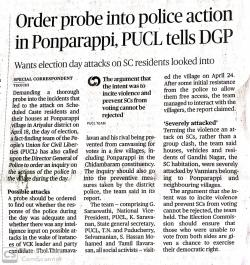 PUCL report of Fact Finding Team on Ponparappi attack (Tamil) | PUCL